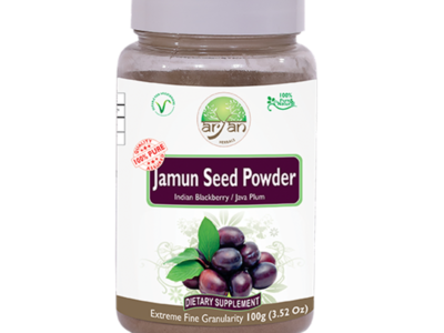 Jamun Seed Powder (Indian Blackberry) - Aryan Herbals