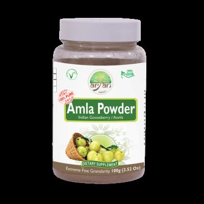 Amla Powder (Indian Gooseberry) - Aryan Herbals