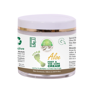 Aloe Foot and Toe Care Cream - Aryan Herbals