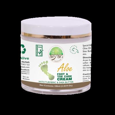 Aloe Foot and Toe Care Cream - Aryan Herbals