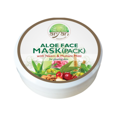 Aloe Face Mask ( Pack ) with Neem and Multani Mitti - Aryan Herbals